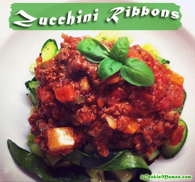 Zucchini Ribbons with Pasta Sauce | 2CookinMamas
