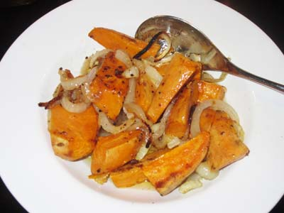 Sweet Potatoes and Onions