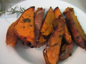 Lime and Cilantro Grilled Sweet Potatoes