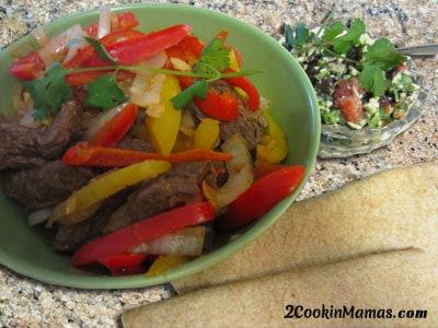 Stir Fry Steak w Black Bean Salad