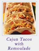 Cajun Tacos with Remoulade