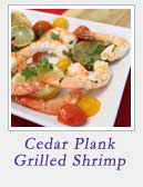 Cedar Plank Grilled Shrimp