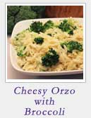 Cheesy Orzo with Broccoli
