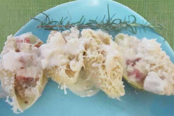 Chicken Cordon Bleu Shells 1 | 2 Cookin Mamas