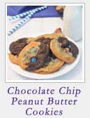 Chocolate Chip Peanut Butter Cookies | 2 Cookin Mamas