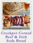 Crockpot Corned Beef and Irish Soda Bread