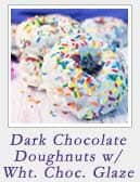 Dark chocolate Doughnuts with White Chocolate Glaze | 2 Cookin Mamas