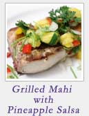 Grilled Mahi with Pineapple Salsa | 2 Cookin Mamas