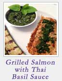 Grilled Salmon with Thai Basil Sauce