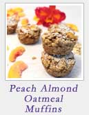 Peach Almond Oatmeal Muffins