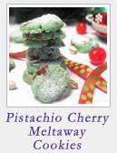 Pistachio Cherry Meltaway Cookies | 2 Cookin Mamas