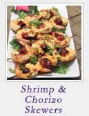 Shimp and Chorizo Skewers