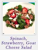Spinach Strawberry Goat Cheese Salad