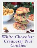 White Chocolate Cranberry Nut Cookies | 2 Cookin Mamas