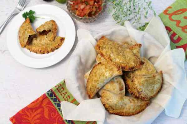 Easy Beef Empanadas overhead | 2 Cookin Mamas