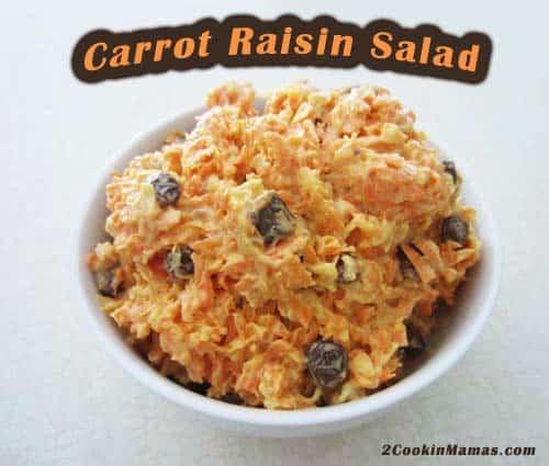 Carrot Raisin Salad | 2CookinMamas