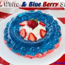 Red White and Blue Berry Salad | 2CookinMamas