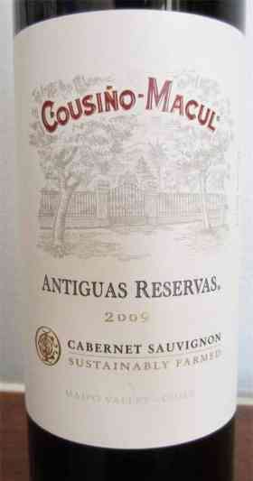 2009 Cousino Macul Antiguas Reservas Cabernet Sauvignon
