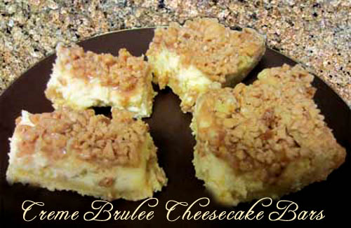 Creme Brulee Cheesecake Bars | 2CookinMamas