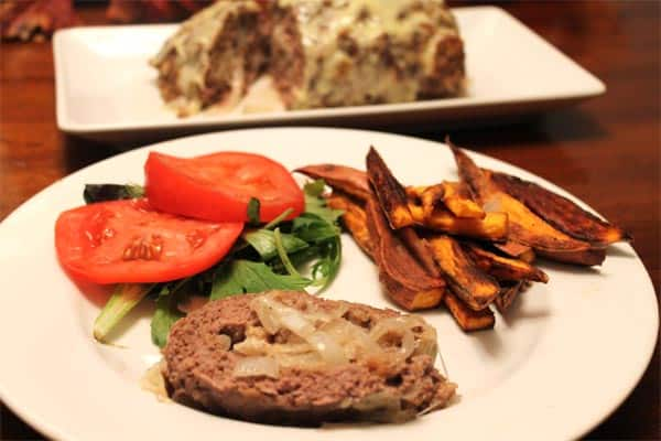 Patty Melt Meatloaf plated