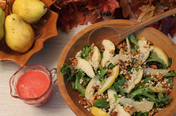 Pear Walnut Gorgonzola Salad top | 2CookinMamas