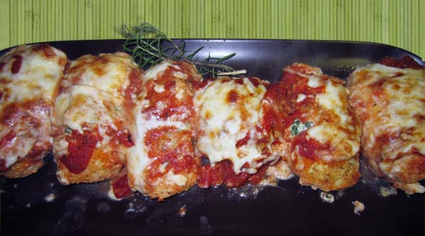 Italian Chicken Rollups plated | 2CookinMamas