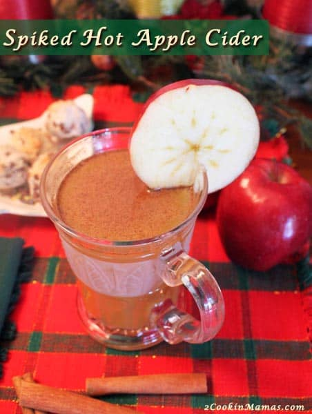 Spiked Hot Apple Cider | 2CookinMamas