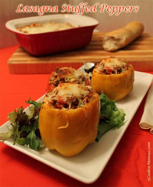 Lasagna Stuffed Peppers | 2CookinMamas