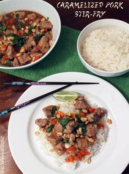 Caramelized Pork Stir Fry | 2CookinMamas