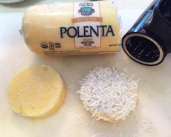 preparing polenta