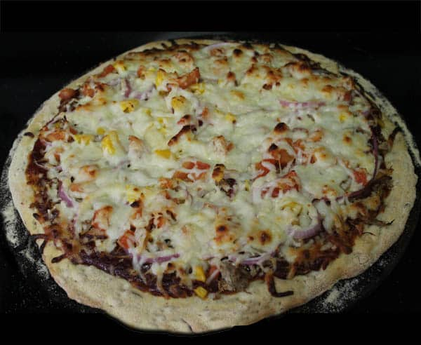 BBQ Pork Pizza baked | 2CookinMamas