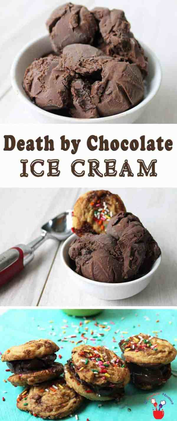 Death by Chocolate Ice Cream   2 Cookin Mamas Calling all chocolate lovers! This decadent homemade chocolate ice cream will have you in chocolate heaven. Its rich, creamy and over-the-top delicious!