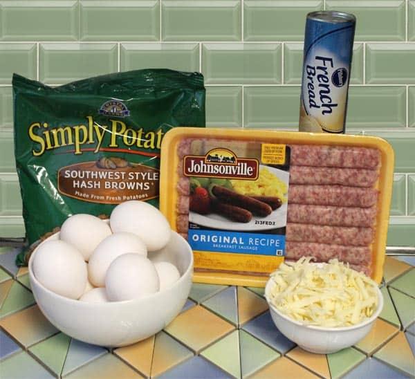 Breakfast Kolaches ingredients 600x400 | 2 Cookin Mamas