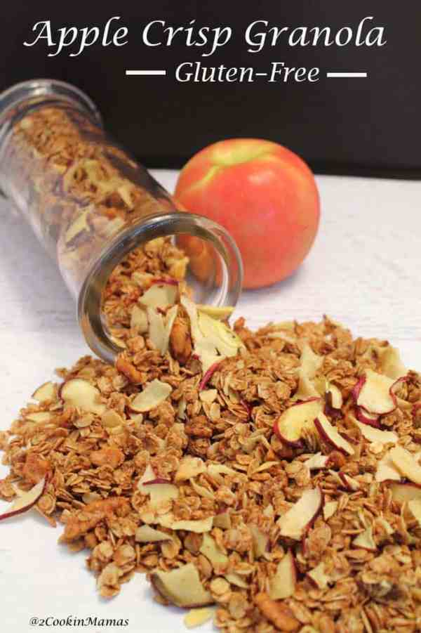Apple Crisp Granola| 2CookinMamas