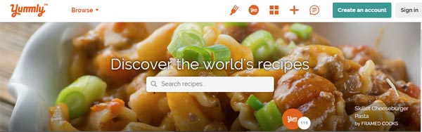 Discover the workd of recipes Yummly