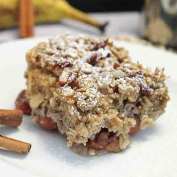 Maple Bacon Oatmeal Casserole square1 | 2 Cookin Mamas