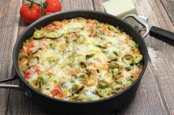 Chicken and Tortellini Skillet 640|2CookinMamas