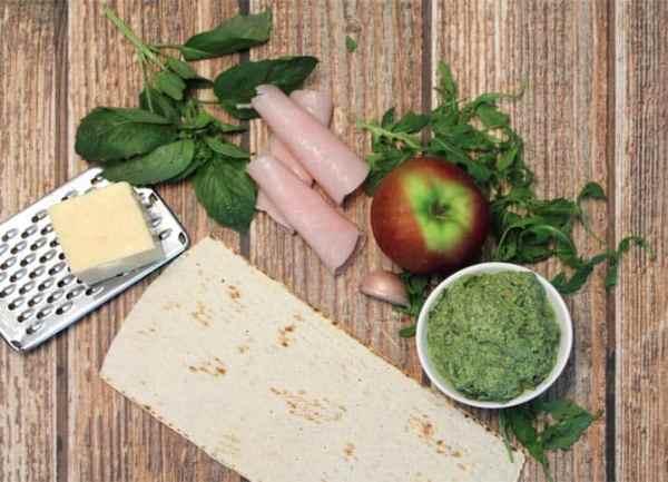 Turkey Apple Walnut Flatbread prep|2CookinMamas