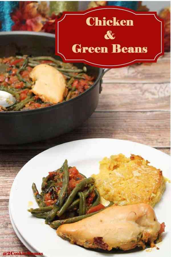 Chicken and Green Beans main | 2CookinMamas - A simple to put together recipe full of fresh Mediterranean flavors.