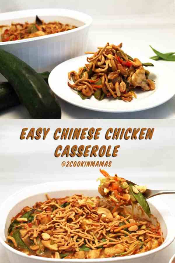 Chinese Chicken Casserole | 2CookinMamas - Healthy & easy casserole that's perfect to make with holiday turkey leftovers or a rotisserie chicken.