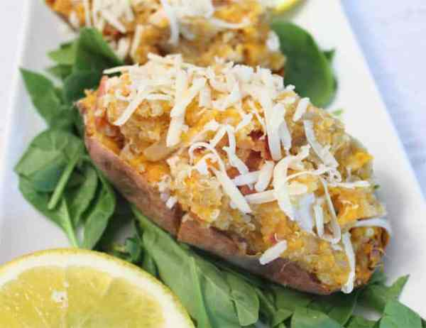 Quinoa Stuffed Sweet Potatoes 640|2CookinMamas