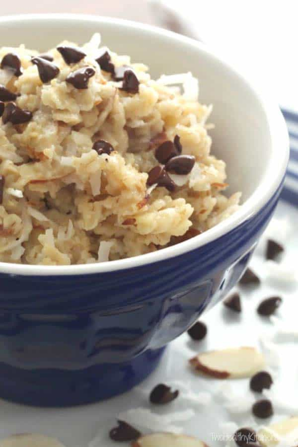Almond-Joy-Oatmeal from Two Healthy Kitchens