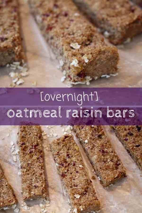 overnight-oatmeal-raisin-bars from Mom to Mom Nutrition