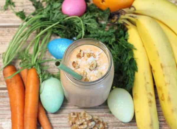 Carrot Cake Smoothie overhead|2CookinMamas