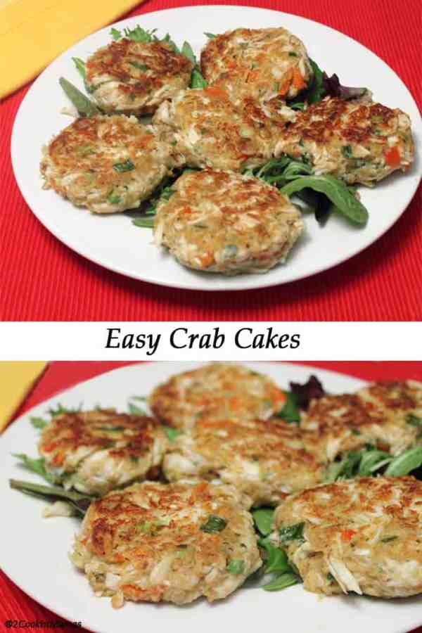 Crab Cakes 1 | 2CookinMamas Quick & easy crab cakes you can plate as is or stack them up for an impressive meal. And you don't have to tell anyone how easy it was!