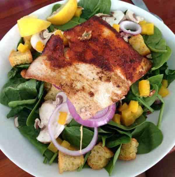 Florida Keys Fish on a salad|2CookinMamas