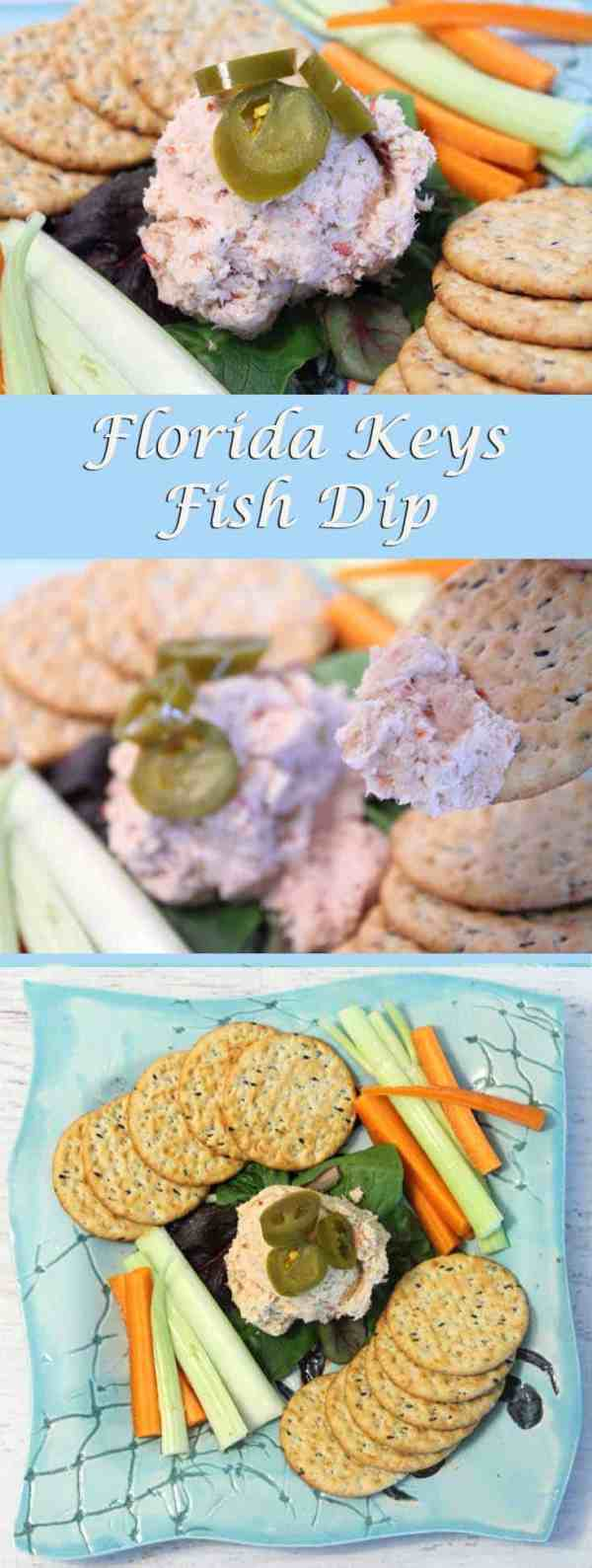 Florida Keys Fish Dip pin|2CookinMamas An easy fish dip to make with all the flavor of the Florida Keys.
