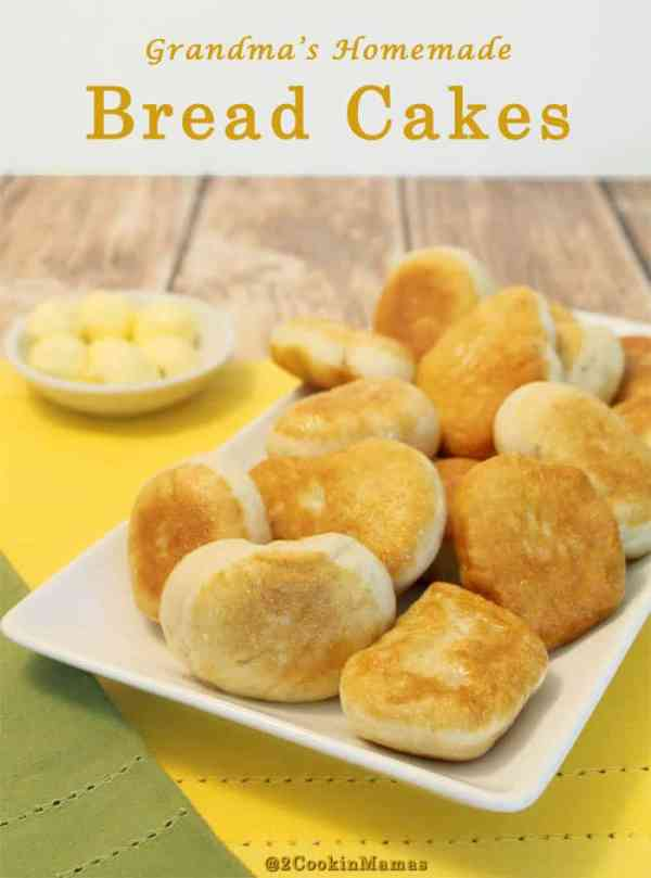 Bread Cakes | 2CookinMamas Grandma's easy bread recipe, fried to perfection. Perfectly soft warm interior and crispy crust. Put a pat of butter on them & YUM!