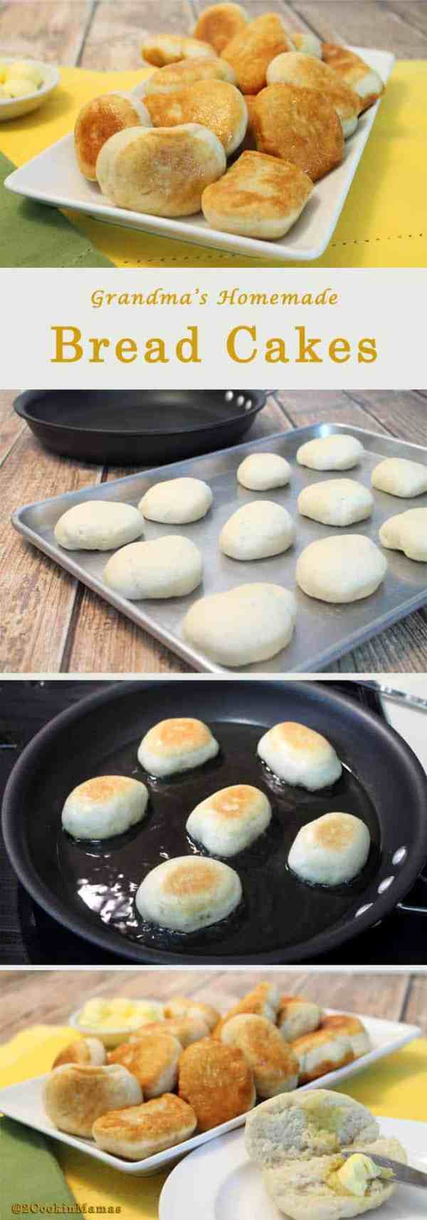Bread Cakes steps | 2CookinMamas Grandma's easy bread recipe, fried to perfection. Perfectly soft warm interior and crispy crust. Put a pat of butter on them & YUM!