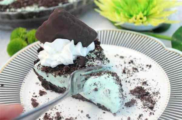 Grasshopper Pie bite | 2 Cookin Mamas